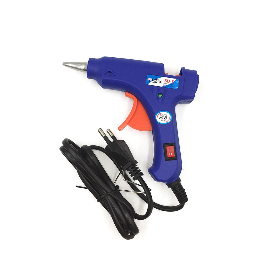 Professional Glue gun hot melt glue gun 20w High Temp Heater  Repair tool  Heating tool+  5pcs Hot Melt Glue Sticks