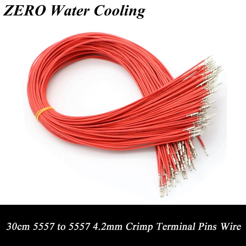 50 unids/lote 30cm Color rojo UL1007 18AWG ATX/EPS/PCI-E hembra a hembra PIN de Terminal de engarzado cable envío gratis.