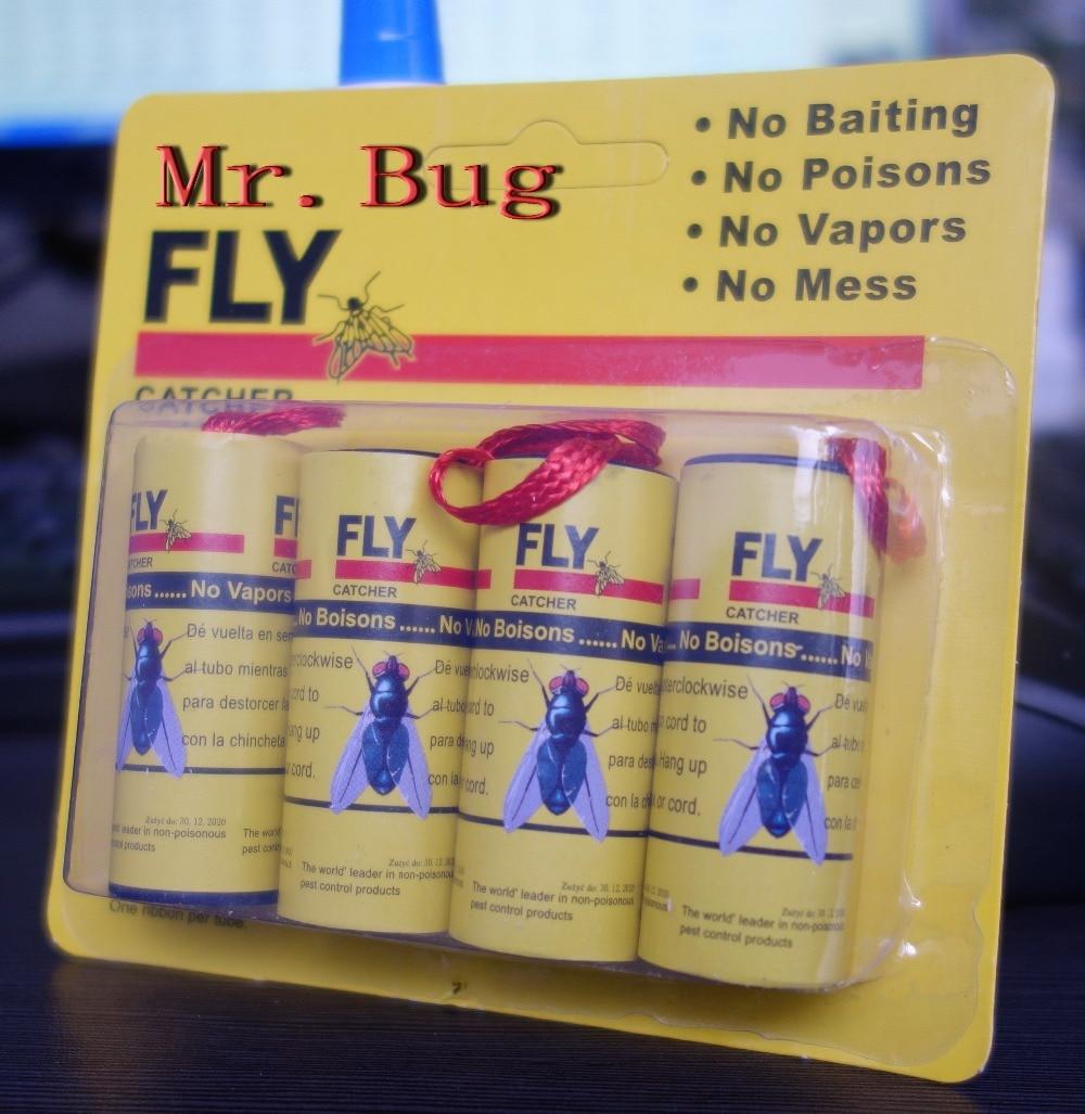 Trampa adhesiva para moscas Mr. Bug, 4 unids/pack, Envío Gratis, trampa para moscas, moscas, lagartija, mosca doméstica, Drosophila, moscas pequeñas, hormigas, insectos