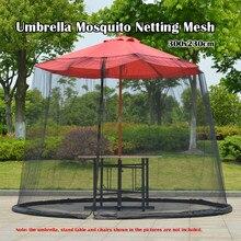 Sombrilla de Patio Circular para exteriores mosquitera pantalla de malla con cremallera mesas de Patio cubierta de red de Picnic