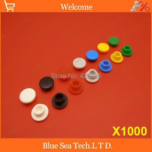 Tapa de interruptor de botón táctil de 1000 uds, tapa de botón de Micro interruptor, tapa de tacto momentáneo ajuste multicolor 6*6 interruptor