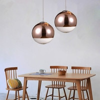 Bar Lamp Kitchen Island Pendant Light Bronze Glass Lighting Study Modern Pendant Lights Bedroom Home Indoor Lights Bulb For Free