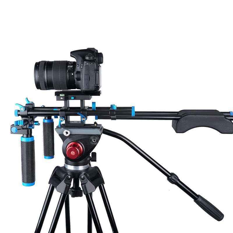 Cage de Support de stabilisateur de caméra vidéo dépaule de plate-forme de DSLR/boîte mate/suivi de mise au point pour le caméscope dappareil-photo de Nikon Sony de Canon