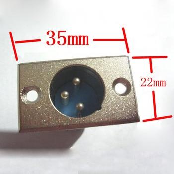 6 PCS de metal 3 pin XLR MASCULINO Chassis Soquete Conector do painel Montado Microfone