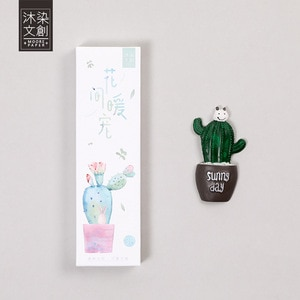 30 pcs/pack A Warm Pet Among the Cactus Bookmark Paper Cartoon Animals Bookmark Promotional Gift Stationery dual Note Message