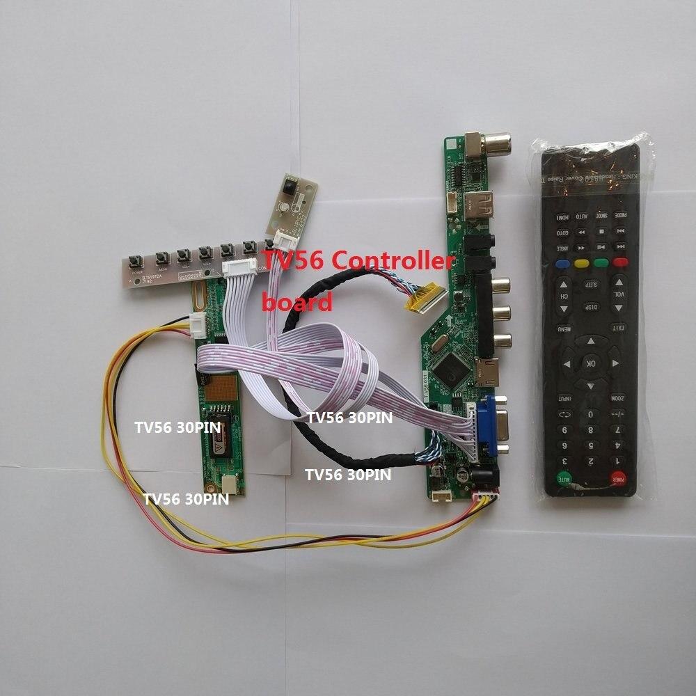 Para b154ew02 30pin led tv 1 ccfl lâmpadas de áudio av placa controlador vga lcd 1280*800 painel tela cartão hdmi