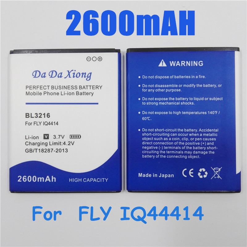 Batería de teléfono Li-ion 2600 mAh BL3216 para FLY IQ4414 batería de teléfono de repuesto