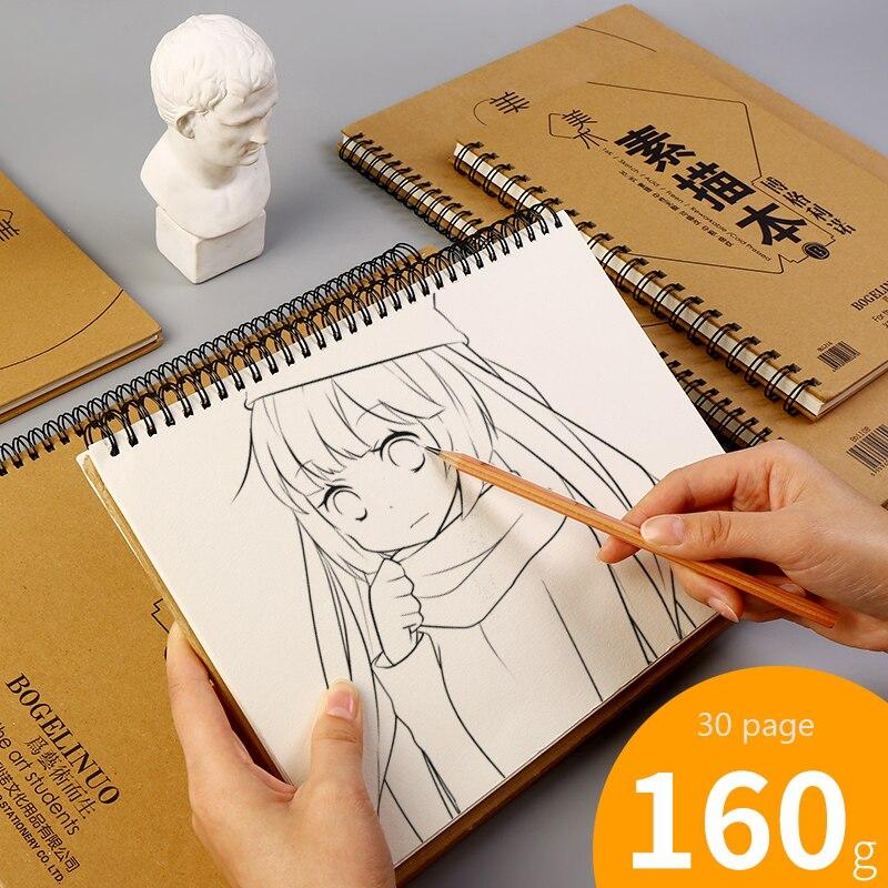 Bgln sketchbook 8 K pintado a mano en blanco arte thicken ocho abierto adultos color lead papel sketchbook 16 K álbum suministros de arte