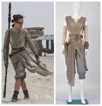 Star Wars 7 Kuvvet Uyandırır Rey Kıyafet Cosplay Kostüm