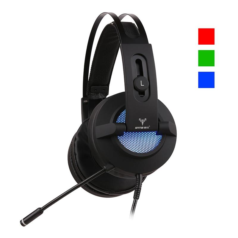 Auriculares de Metal FDBRO, 7,1 canales, PC, auriculares con control de cable, auriculares con vibración LED con micrófono, barra de Internet, auriculares para juegos