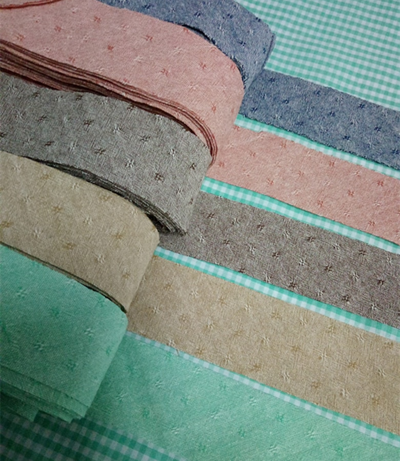 3,6 cm hilo teñido de algodón diagonal cinta de encuadernación, hecho a mano Patchwork algodón tela recorte tapicería costura accesorios 8 M