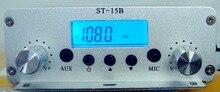 Émetteur de diffusion FM 1.5 W/15 W double mode 87 MHz-108 MHz ST-15BV2 station de diffusion radio fm stéréo PLL