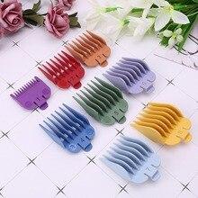 8 pièces/ensemble universel tondeuse à cheveux limite peigne Guide accessoire taille 3/6/10/13/16/19/22/25mm remplacement de barbier