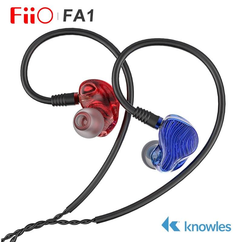 Fiio FA1 Knowles ED-33357 Monitor de auriculares de alta fidelidad con cable desmontable MMCX DLP 3D