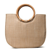 Новинка 2019, Женская Плетеная соломенная сумка, хит продаж, круглая роскошная дизайнерская летняя богемная Женская пляжная сумка-клатч