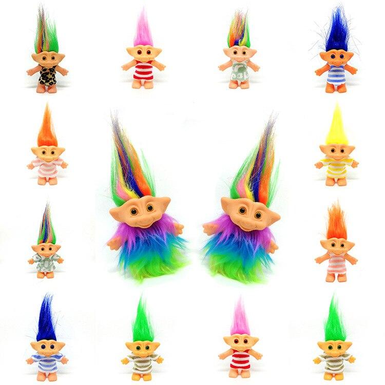 ¡10 cm ropa clásica Trolls muñecas figuras juguetes Leprechauns Russ Troll para niños regalo de cumpleaños nuevo!