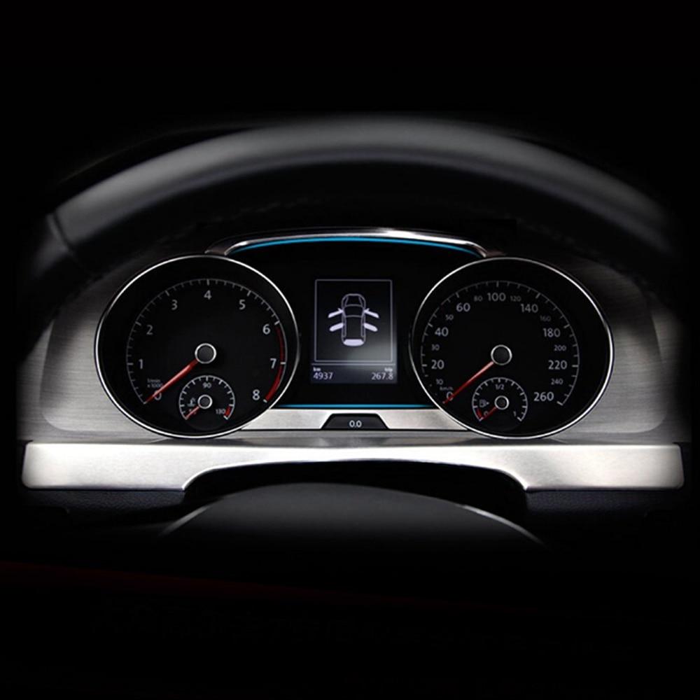 Para Volkwagen VW Golf 7 2013 2014 2015 Acero inoxidable consola central automática Panel de instrumentos tira de garísh decoración de tablero