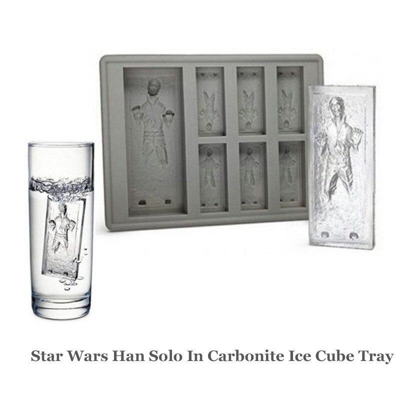 Star Wars Han Solo en silicona de carbonita molde de hielo Mini cubo de hielo bandeja divertida fiesta beber hielo nuevo fabricante de trucos