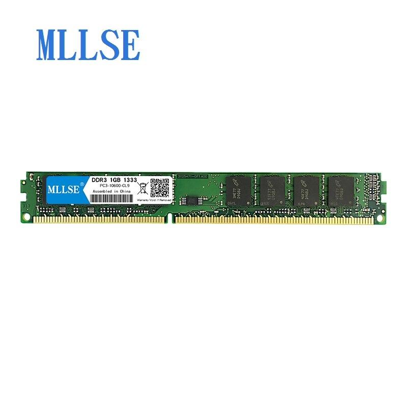 Mllse PC Ram DIMM DDR3 1 GB, 1333 mhz, 1,5 V para escritorio PC3-10600S 240pin no-ECC PC RAM memoria