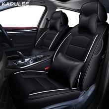Couverture de siège de voiture en cuir véritable   Personnalisé, KADULEE, pour hyundai ENCINO coupé Azera Grand SantaFe Veracruz Equus Rohens Veloster sièges de voiture