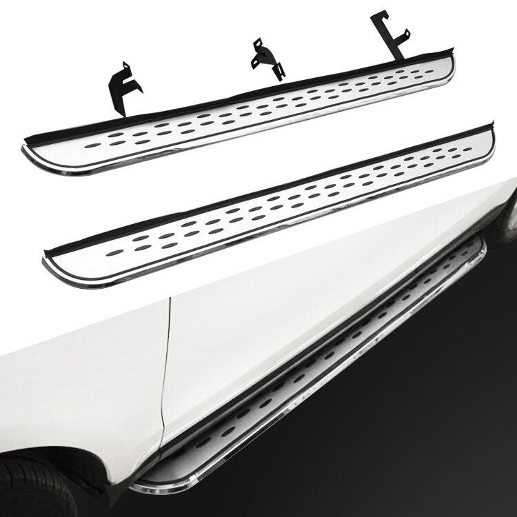 Placa de corrida nerf barra passo lateral apto para nissan x-trail rogue 2014-2020 plataforma iboard 2 pces