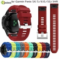 26 22 20mm quick release easyfit silicone watchband wriststrap for garmin fenix 6 5x 5 5s plus 3 3hr s60 d2 mk1 smart watchstrap