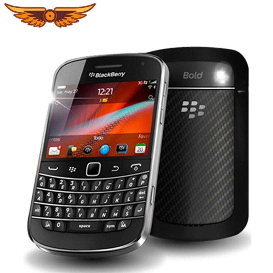 Original Entsperrt Blackberry 9900 WCDMA 3G QWERTY Tastatur 8GB ROM 5MP Bluetooth WIFI Renoviert Smartphone Freies Verschiffen