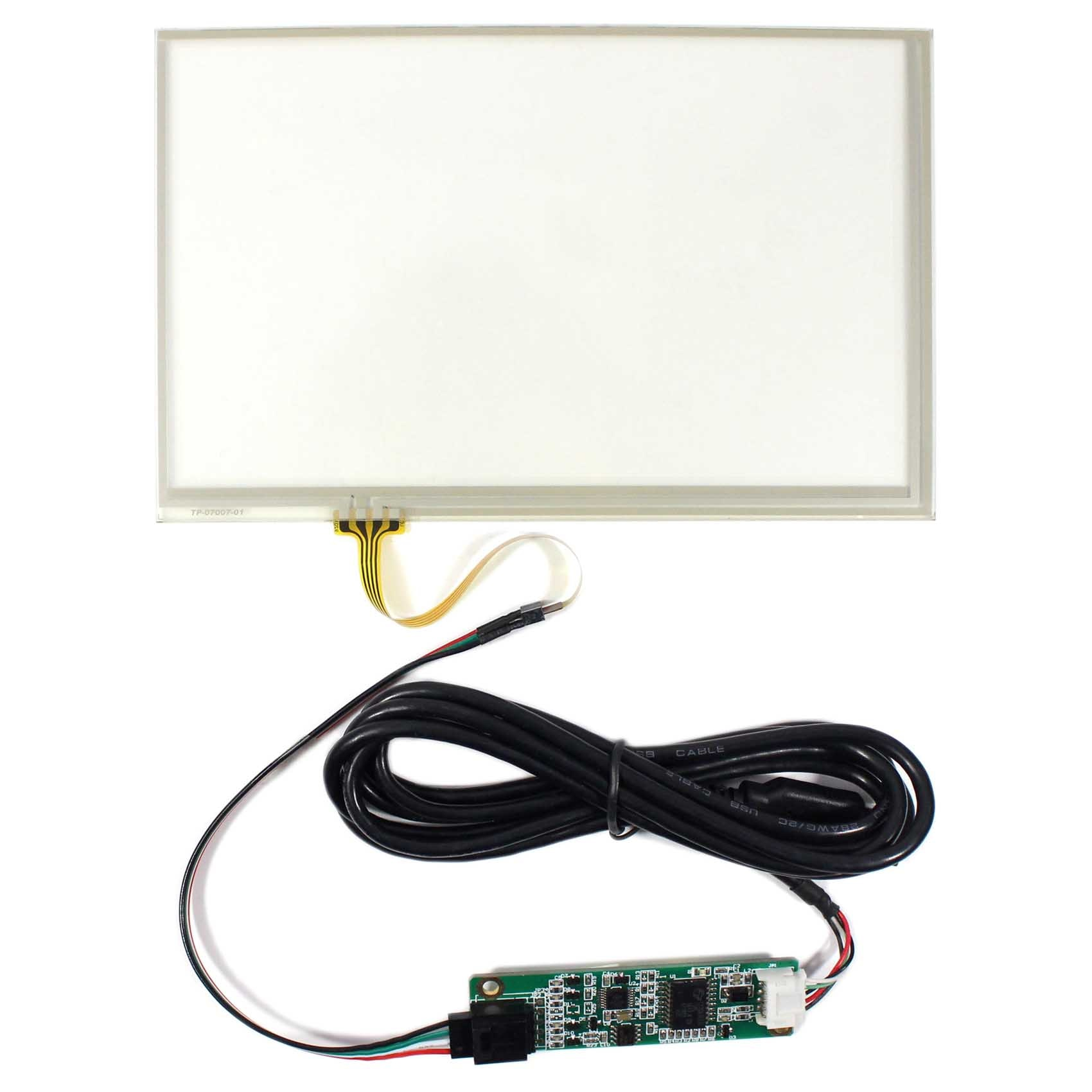 Touch Screen 7inch Touch Panel 165mm x 104mm 4-wire USB Controller Card