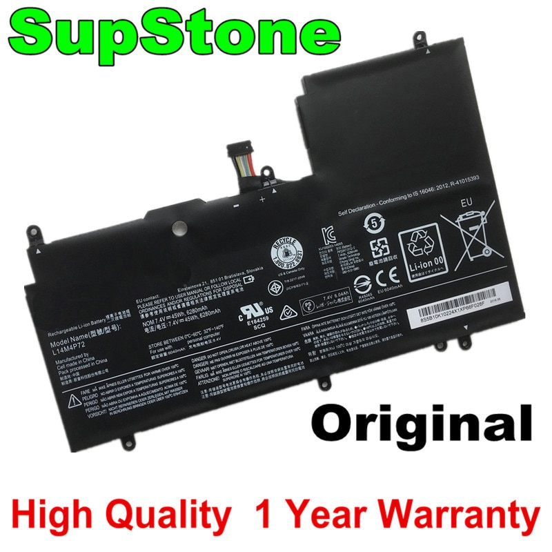 SupStone Genuine Original L14M4P72 Laptop battery For Lenovo Yoga 3 14 Yoga 700 14ISK Serie Yoga3 14-IFI Yoga3 14-ISE L14S4P72 4
