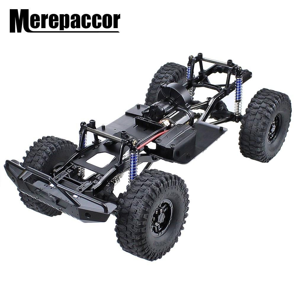 """MEREPACCOR 313mm 12,3 """"distancia entre ejes montado chasis de bastidor para 1/10 coche trepador de control remoto SCX10 SCX10 II 90046, 90047"""