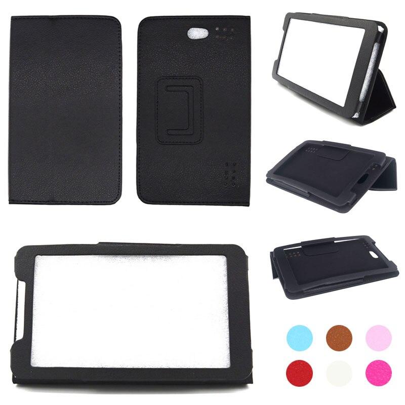 Para Digma Optima Prime 3G TT7000MG 7 pulgadas tableta de cuero PU plegable Funda tipo libro soporte + lápiz óptico + película