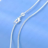 925 sterling silver box chain for women necklace smple casual jewelry 16 30 inch wholesale dropshipping retail accept