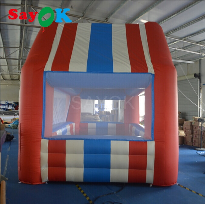 Sayok New Inflatable Sale Booth Sale Tent Inflatable Kiosk 6x3m Inflatable Standing Booth for Advertising Business Promotion