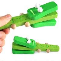 Милые кастанеты, игрушки с музыкальным инструментом, Детские деревянные игрушки с ручкой, развивающие Музыкальные Развивающие игрушки для ...