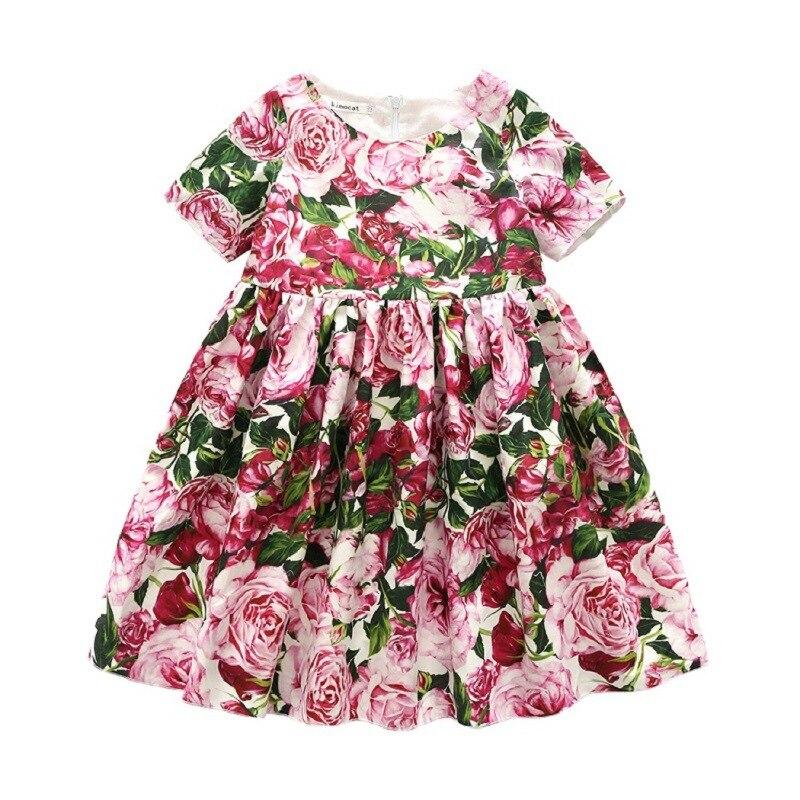 Sinyuer/платья для девочек с рисунком кота, 2017 г., Брендовое летнее платье принцессы, Robe Fille Enfant, костюм для девочек, детское платье, детская одежд...