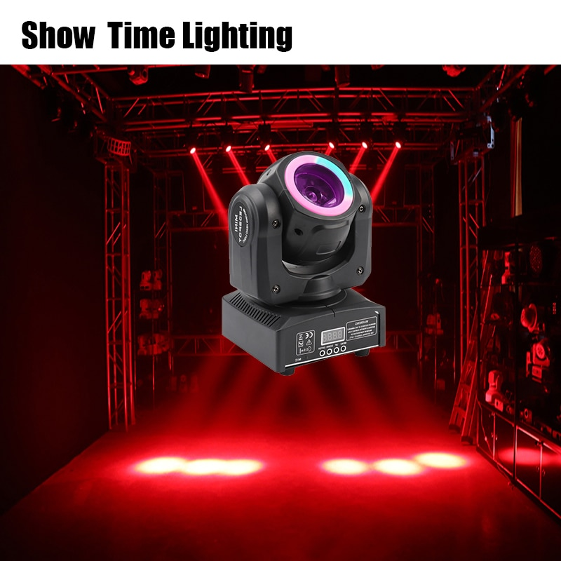 Mini Led 60W Beam Moving Head With Light Strip Spot Wash RGBW 4 In 1 Effect Good Use For Night Club KTV DJ Party Lite