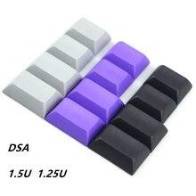 Keycap blanc dsa pbt 1.25U/1.5U pour les commutateurs de clavier mécaniques cherry mx