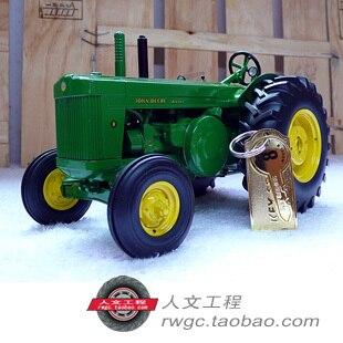 Deere Model R Precission gold metal tractor agricultural vehicle model ERTL 1:16
