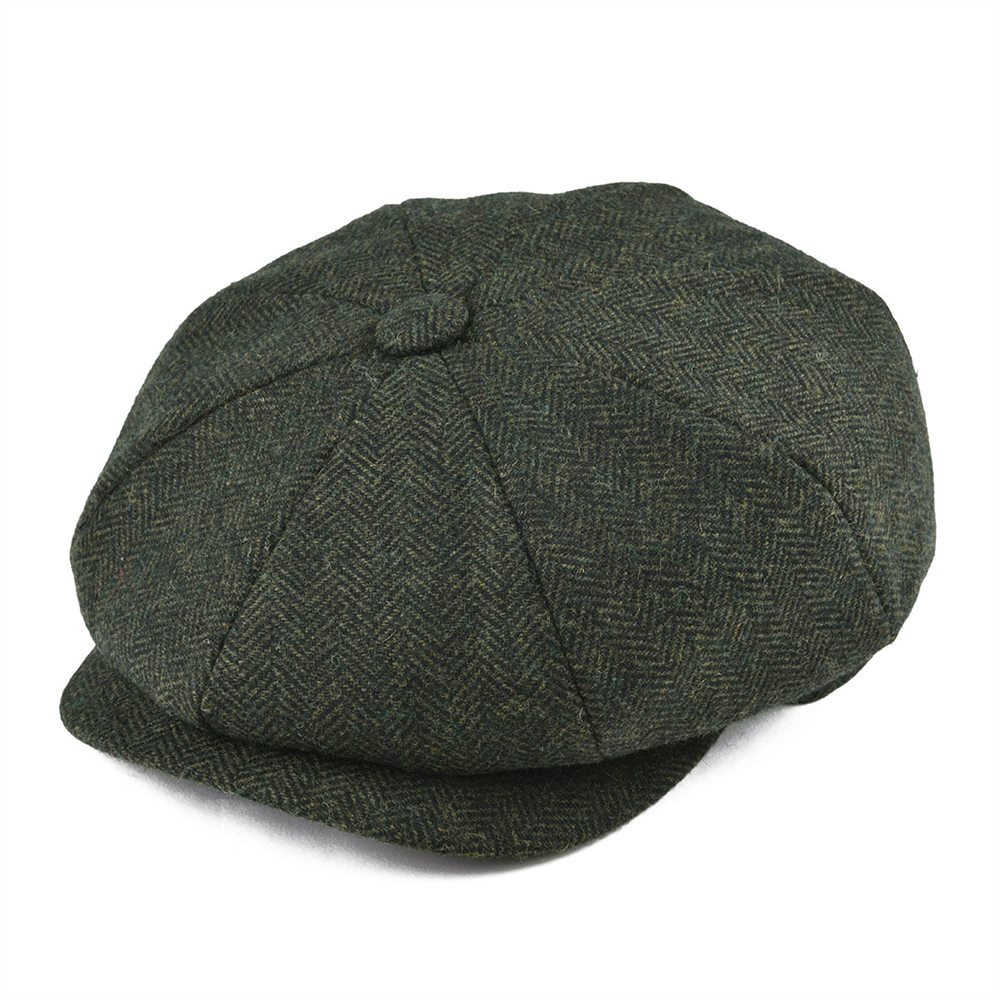 Мягкая шерсть ручной работы BOTVELA, кепка с 8 панелями темно-синего цвета в елочкой, кепка Newsboy для мужчин и женщин, 8-четверти, плоская кепка, женский берет, шляпа 005 твид
