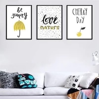 canvas painting wall art pictures prints funny cherry day no frame poster home decor tv cabinet sofa background decoration