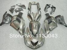 Silver Fairing kits FOR KAWASAKI NINJA ZX-14R ZZ-R1400 06-09 ZZR1400 ZX 14R 06 07 08 09 ZX 14R 2006 2007 2008 2009 fairings #S0X