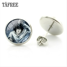 TAFREE Animation Death Note Stud Earrings Classic Design Cabochon Dome Elegant Jewelry Hot Selling W