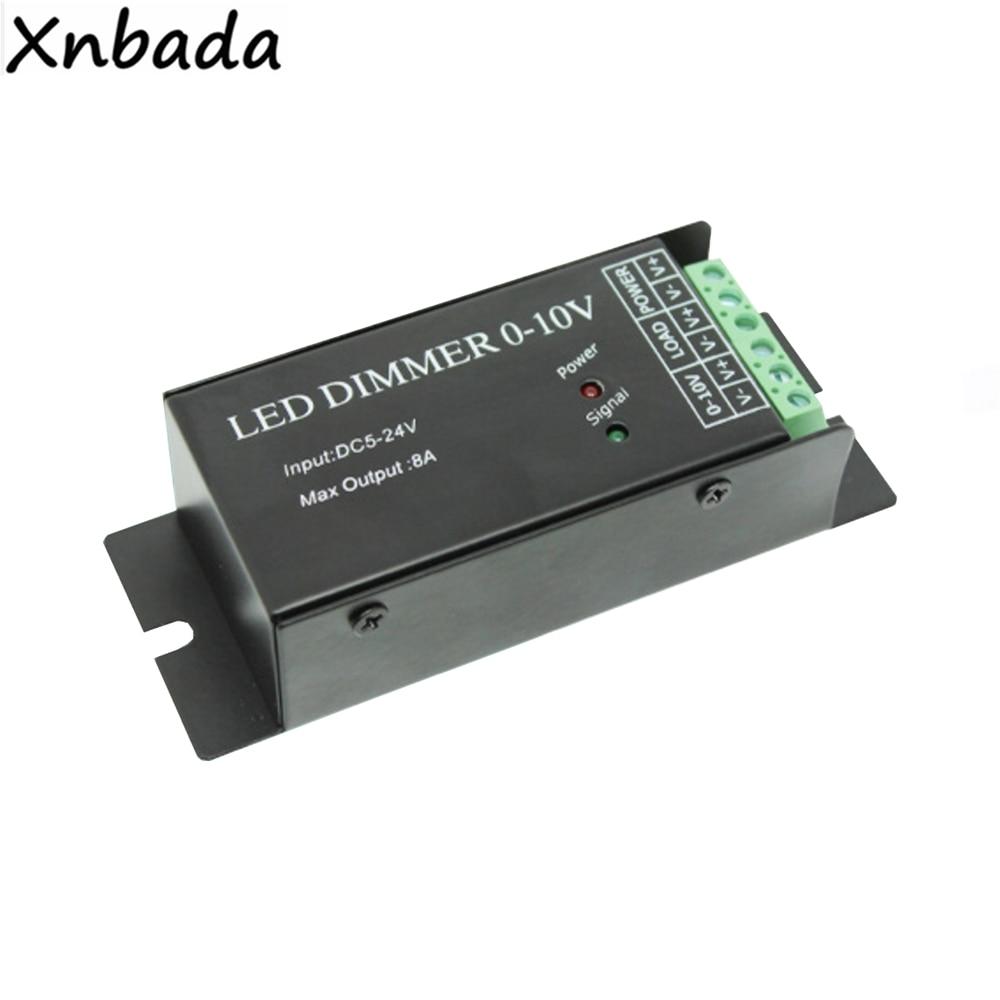 Led Dimmer 0-10 V, 1 Kanal 8A, 12 <96 W, 24 V <192 W, Schwarz Farbe Shell Für Flexible Led Streifen