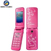 Original desbloqueado SAMSUNG C3520 teléfono móvil Bluetooth FM Radio Flip C3520 teléfono celular