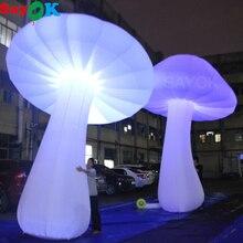 Champignon gonflable géant haut de 3/4/5m   Scintillant dans la nuit avec 16 couleurs, lumières de couleur changeantes pour la décoration des événements et de la fête de mariage