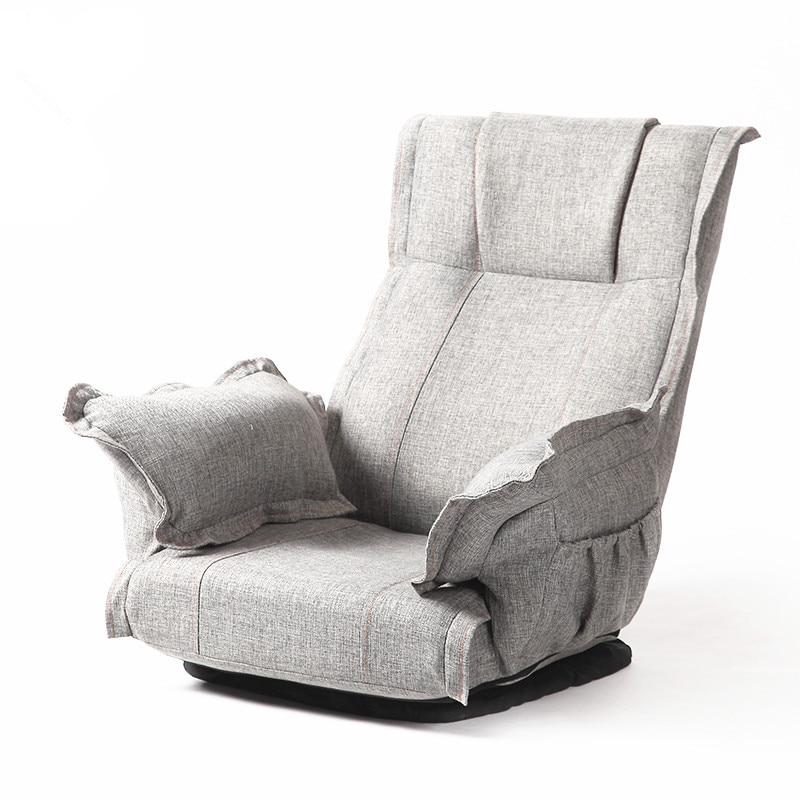 Silla giratoria plegable moderna con rotación de 360 grados, mobiliario de sala de estar, Sillón tapizado de relajación con piso plegable grande