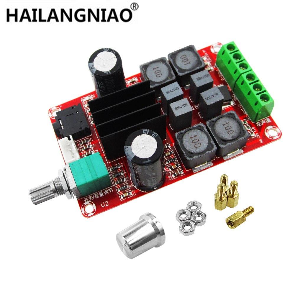 5 pçs/lote D2 TPA3116 50 W + 50 W Dual Channel Stereo Digital Amplifier Board DC 5 V 24 V XH-M189