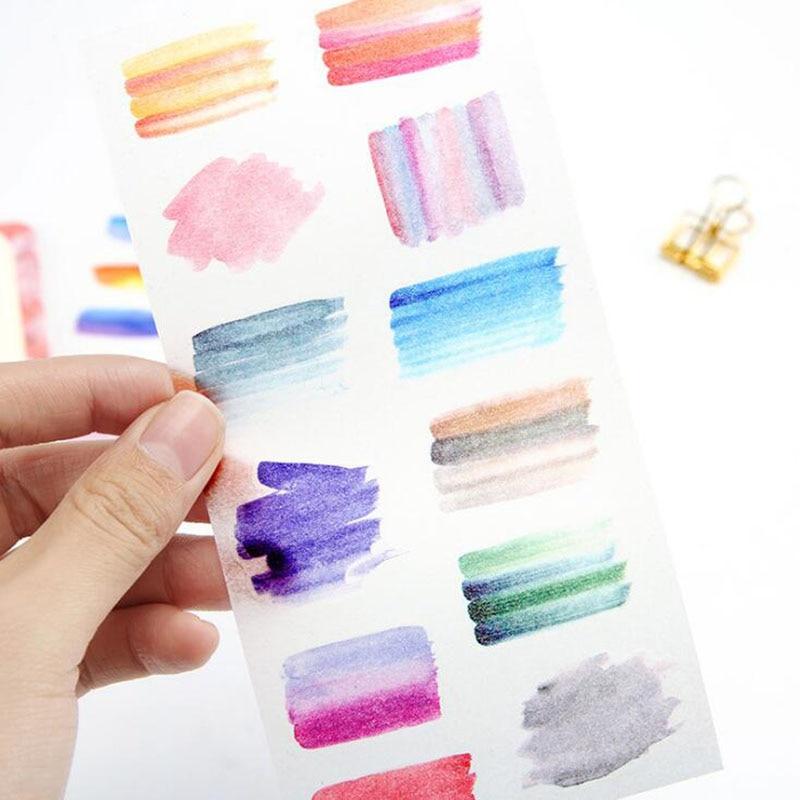 6/bolsa corazón es todavía transparente de la etiqueta engomada/estudiantes de arte de papelería personalidad Diy creativo de decoración de álbumes y diarios de la etiqueta engomada