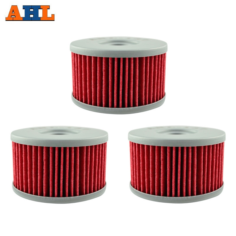 AHL 137 3pcs Oil Filter FOR SUZUKI XF650 Freewind 97-02 S40 DR-650SE DR-600 DR 500 S DR750 DR800 LS650 Savage RSE SP500