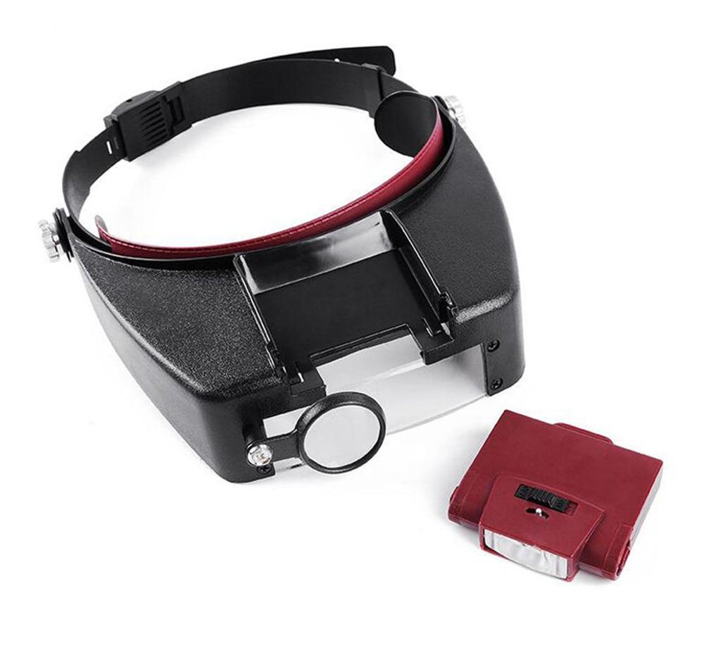 24 Uds 1,5 x 3X 8,5 x 10X 4 lente LED diadema lupa reloj reparación lectura lupa gafas ojo lupa